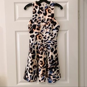 Cameo leopard dress xs